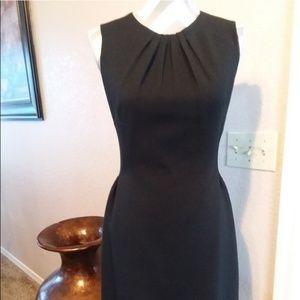 Kate Spade Black Sleeveless Sheath Pleated Dress